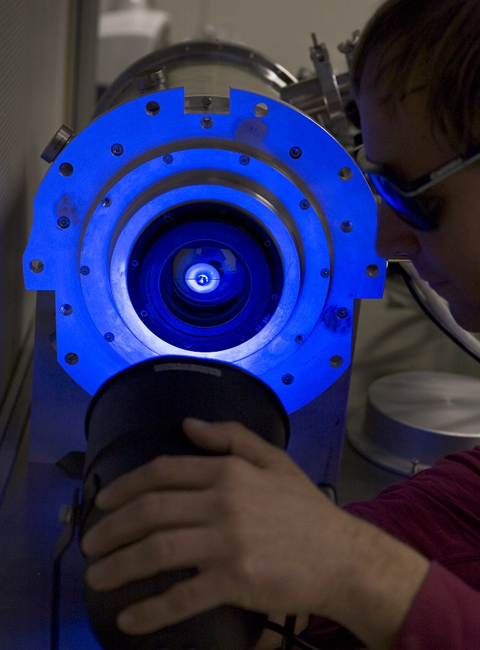 UV preparation of a CCD detector