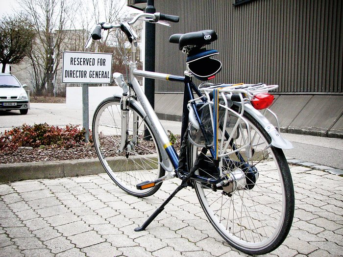 ESO Director General bike