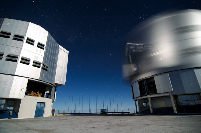 Unit Telescope spinning