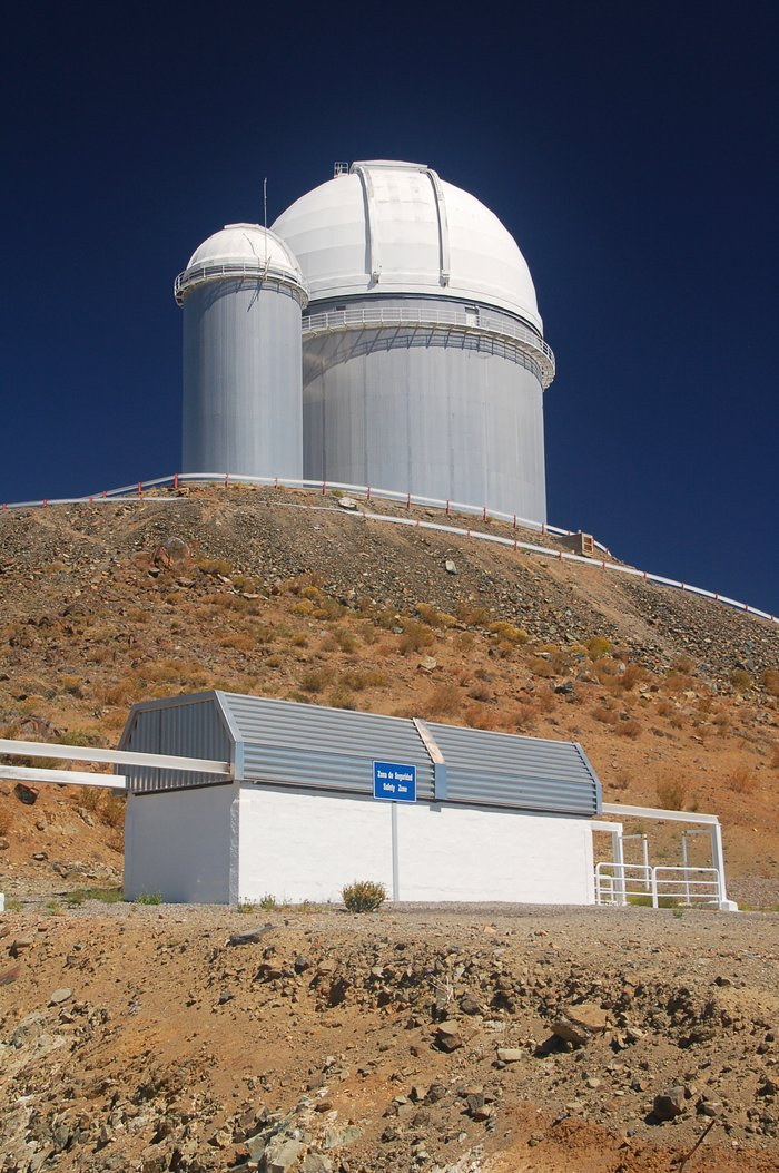 ESO 3.6-metre telescope and TAROT at La Silla