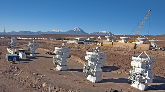 Japanese ALMA antennas at the OSF
