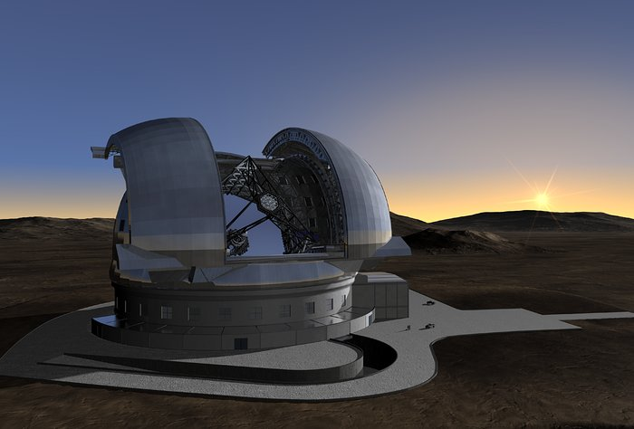 ELT in its enclosure (artist's impression)