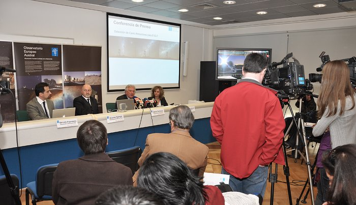 Press conference on ELT site selection