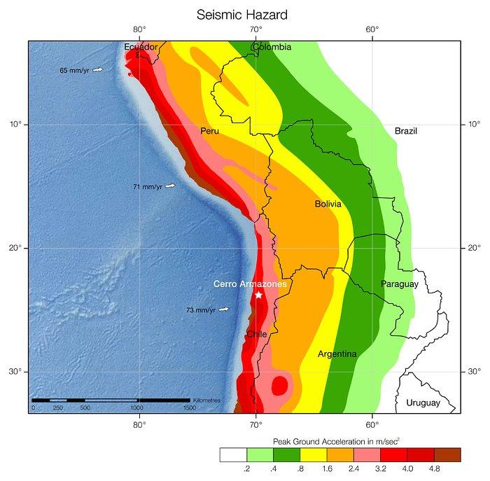 Seismic hazard in Chile