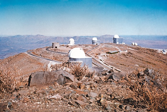 La Silla view with Danish 1.5-metre telescope under construction