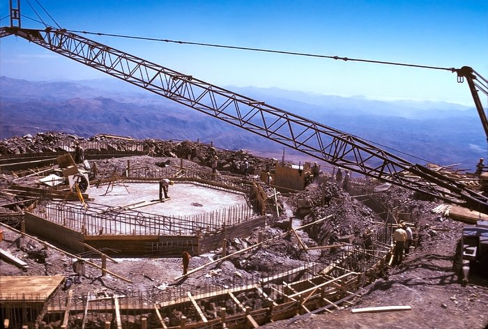 Foundations of the dome of the ESO 3.6-metre telescope