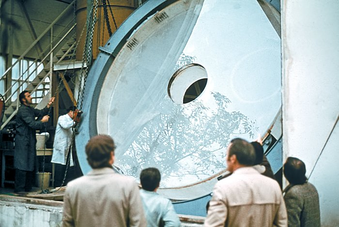 Primary mirror of the ESO 3.6-metre telescope