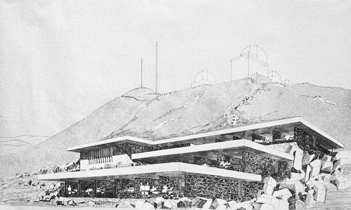 Illustration of the hotel at La Silla