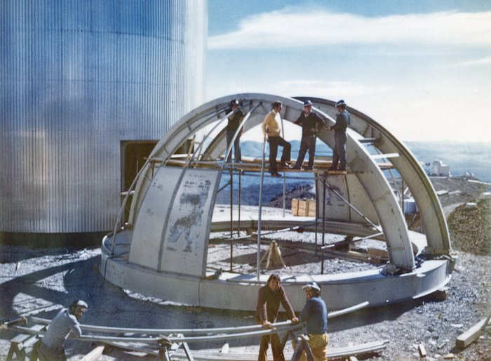 The CAT dome being assembled
