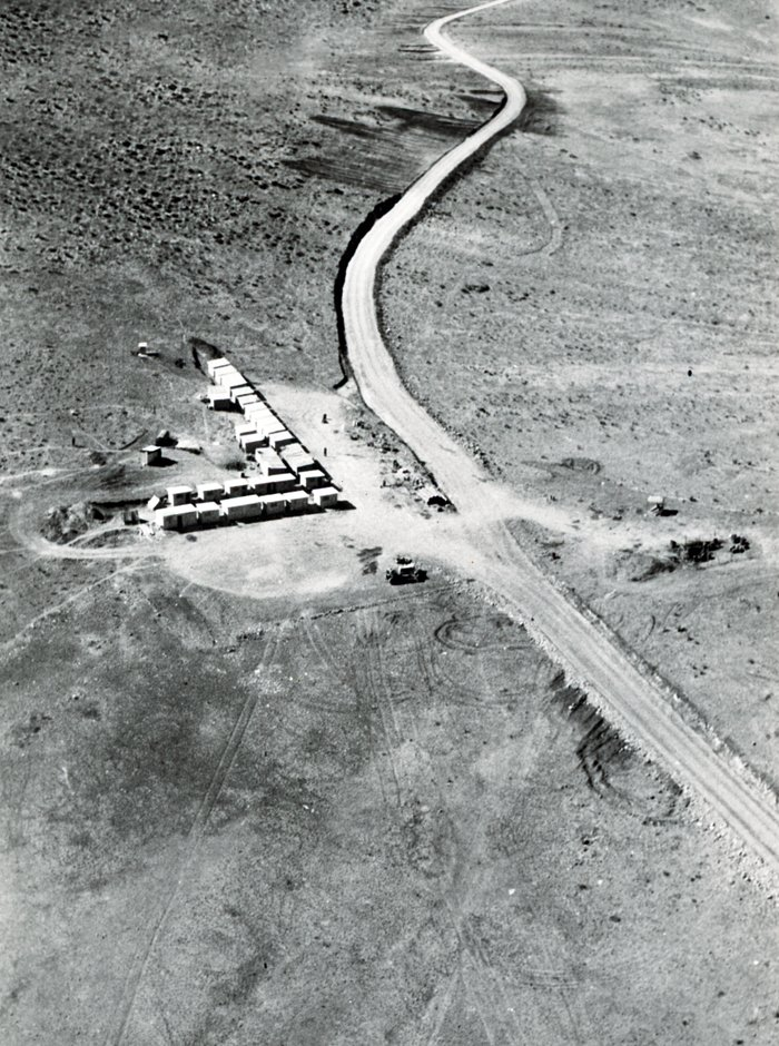 Aerial view of La Silla Observatory, 1966