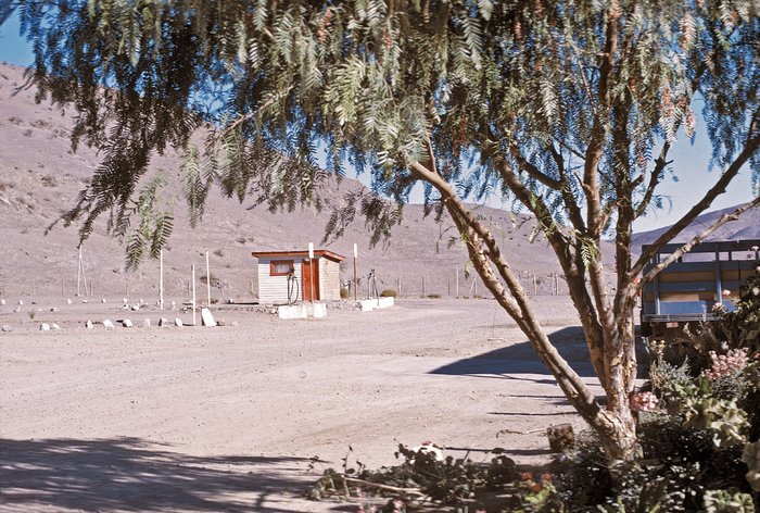 Petrol station at Camp Pelicano