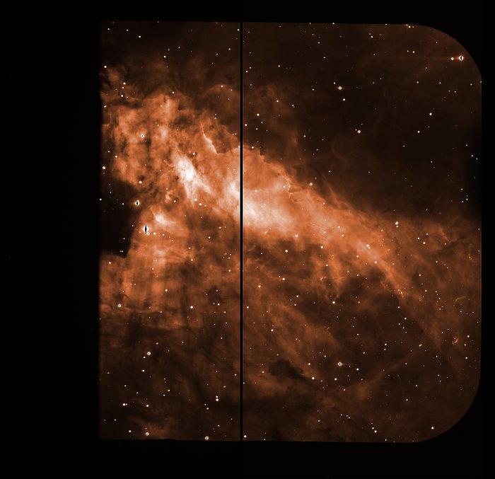 Raw image of the Omega Nebula