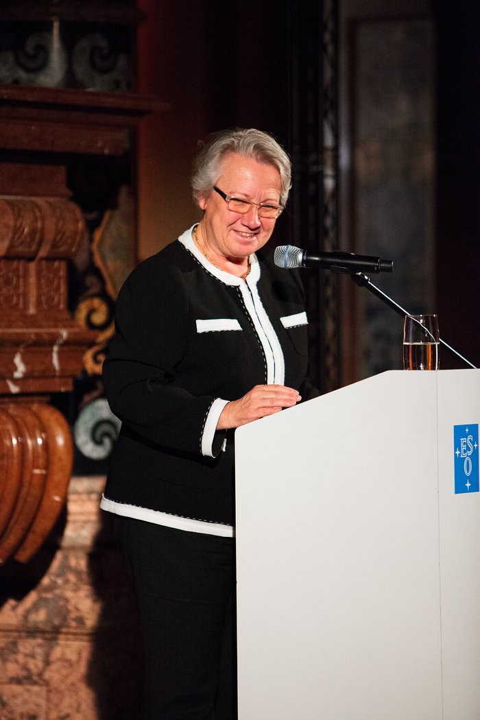 Annette Schavan at the ESO 50th Anniversary Gala Event