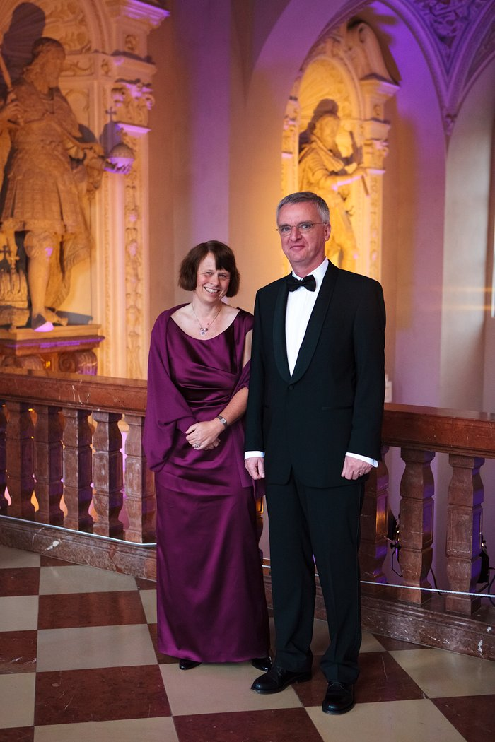 Ewine van Dishoeck and Tim de Zeeuw at the ESO 50th anniversary gala event