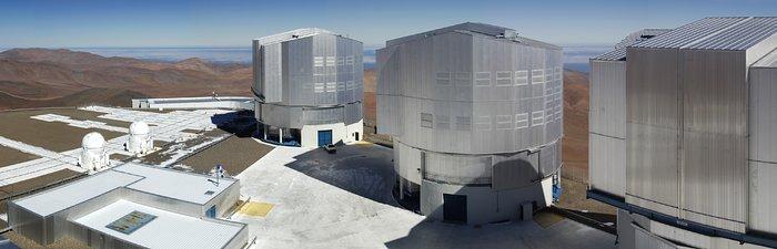 Die VLT-Plattform auf dem Gipfel des Paranal