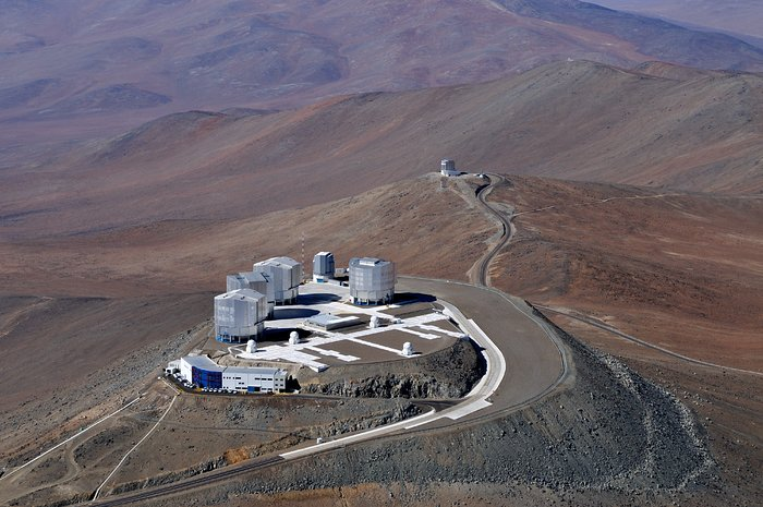 Visuale di un uccello del Very Large Telescope