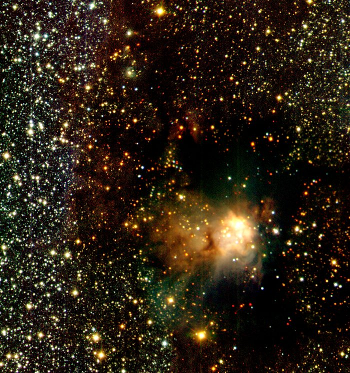 Infrared Wide Angle View of RCW 108 (Detail)