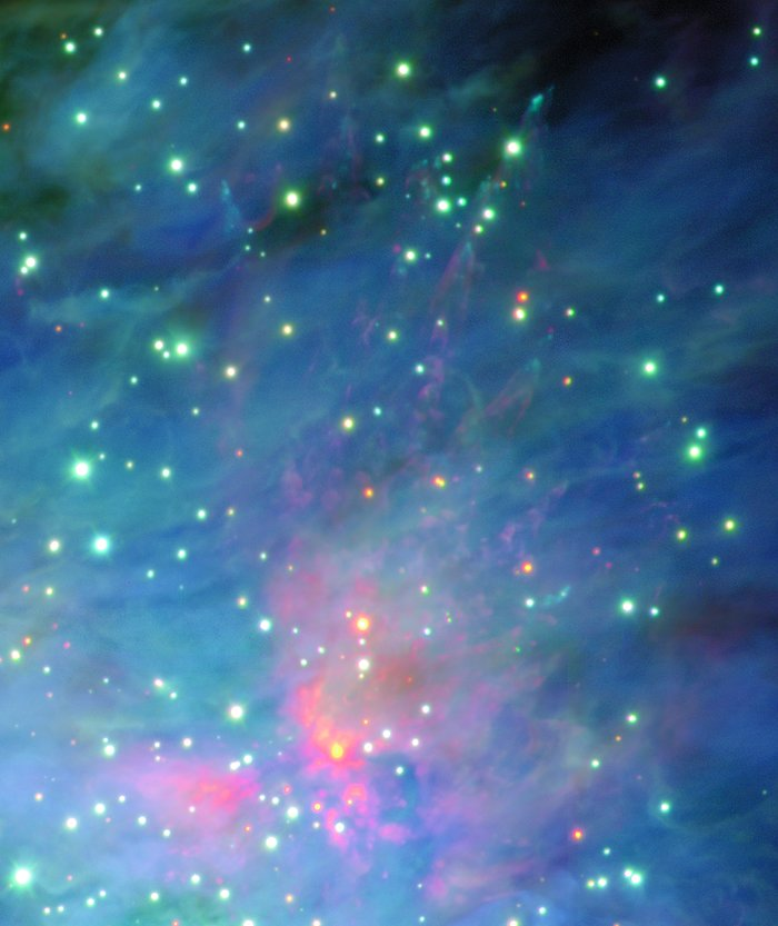 The Orion Nebula and Trapezium cluster (detail)