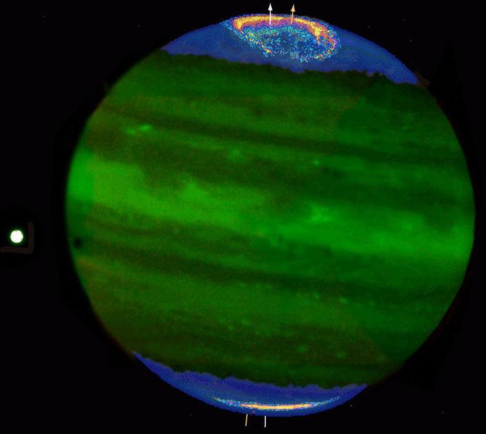 Jupiter's auroral ring and polar haze
