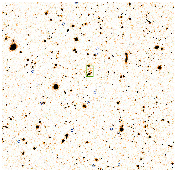 Faint, distant cluster of galaxies