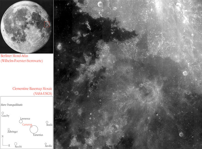 Location of the Lunar field imaged by NACO