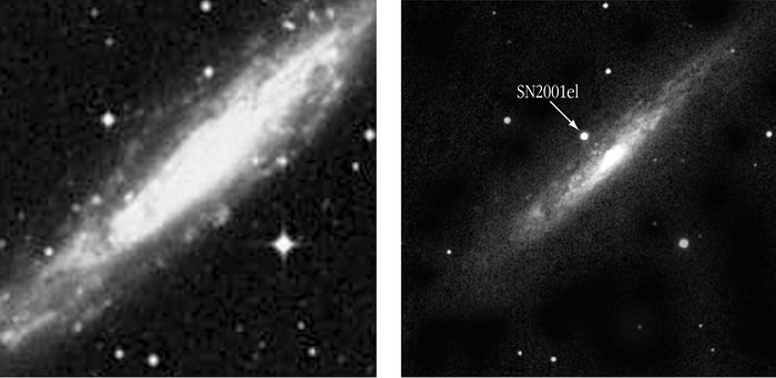 Spiral Galaxy NGC 1448 before and after the explosion of SN 2001el