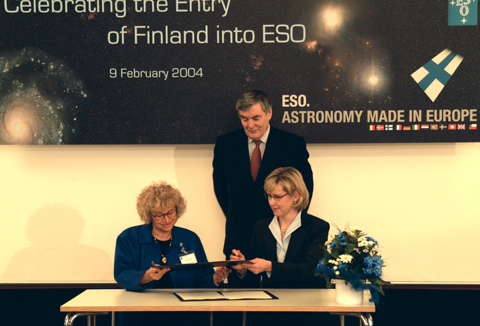 Signing of the Finland-ESO agreement