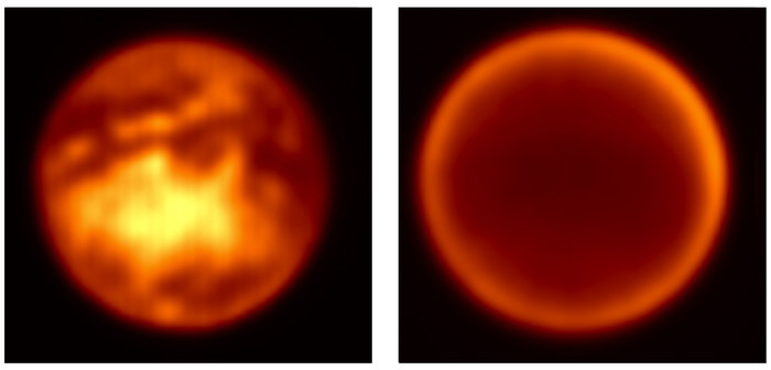Simultaneous views of Titan's surface and atmosphere
