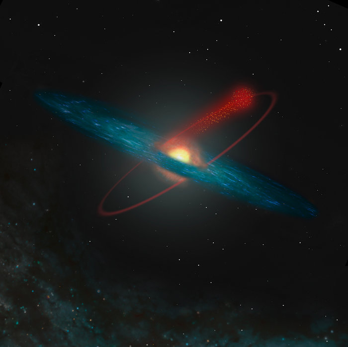 Losing Stars to the Milky Way (artist's impression)