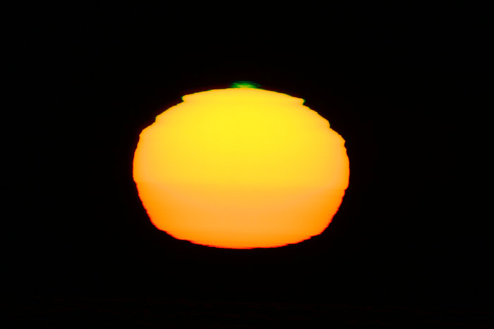 Green flash at Paranal