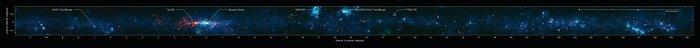 Vista del Plano Galáctico del estudio ATLASGAL (anotado)