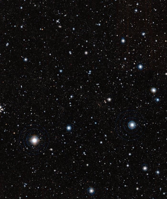 Gigantesca estructura de galaxias