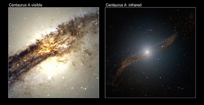 """La """"comida"""" de Centaurus A"""