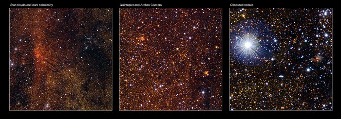 Detalles de la imagen de VISTA del Centro de la Galaxia