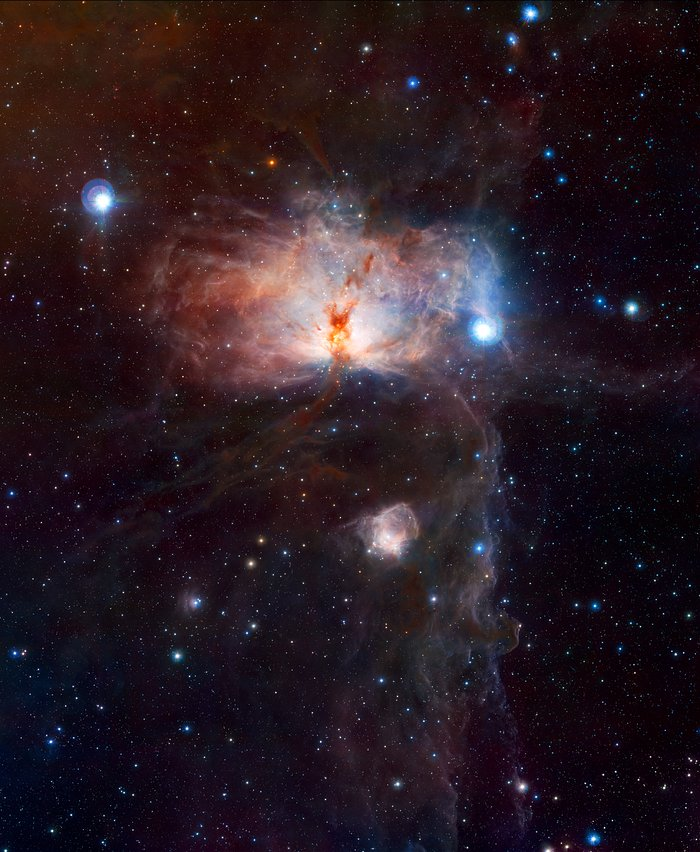 The hidden fires of the Flame Nebula (full frame)