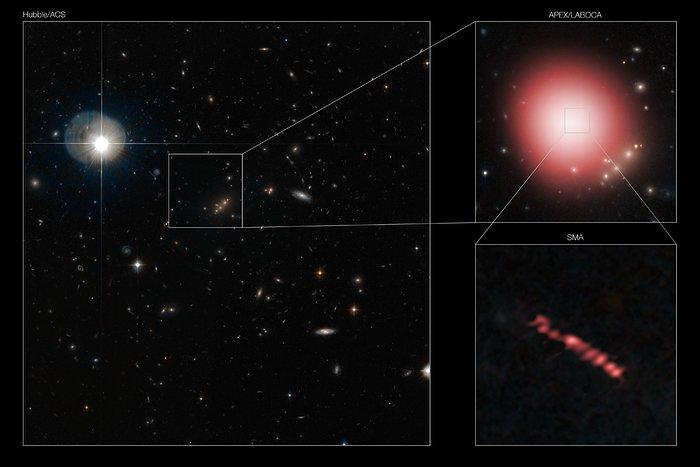 Descubrimiento fortuito revela fábricas de estrellas en el Universo lejano