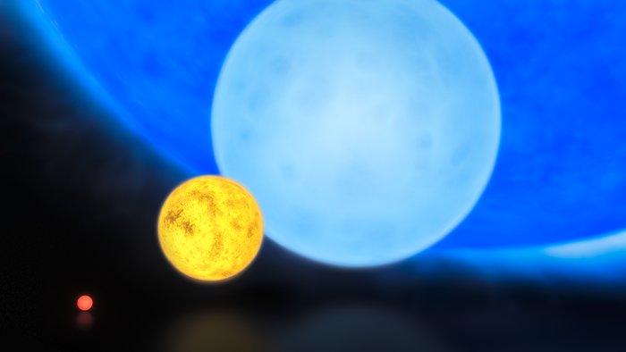 El tamaño de las estrellas