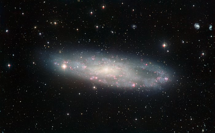 Wide Field Imager view of the spiral galaxy NGC 247