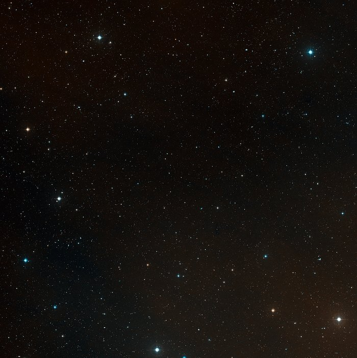 Wide-field view of the sky around the remote cluster CL J1449+0856