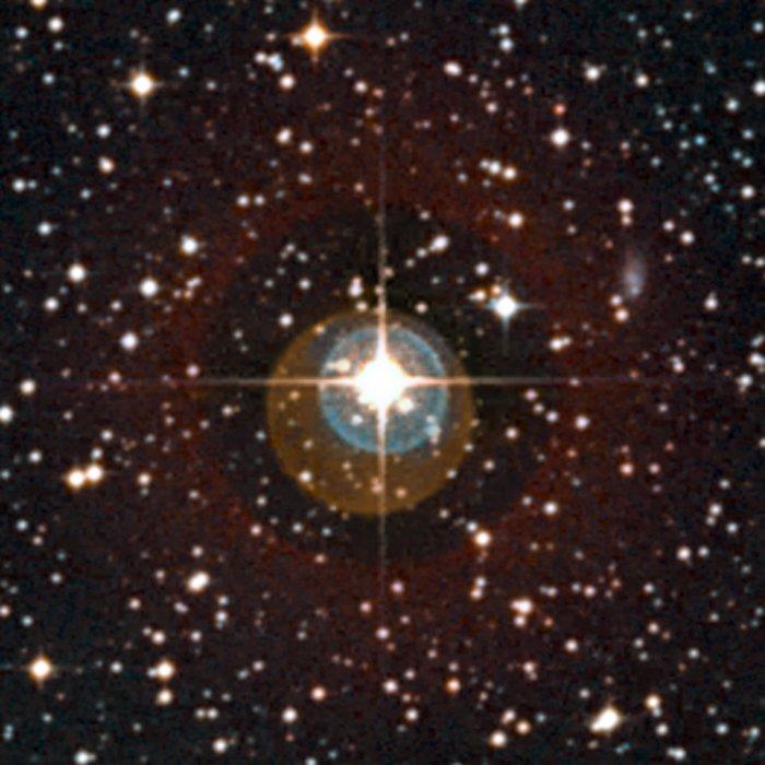 Vista cercana de la estrella HD 85512