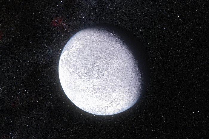 Impresión artística del planeta enano Eris