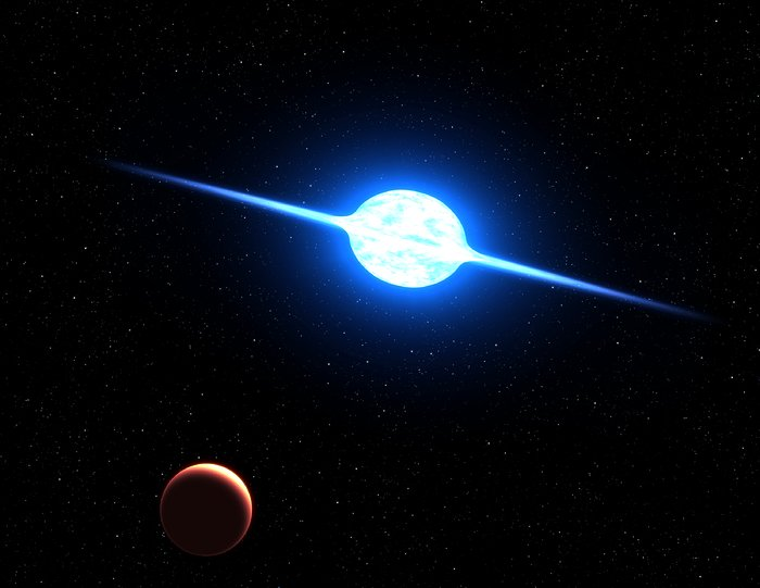 Artist's impression of the fastest rotating star (artist's impression)
