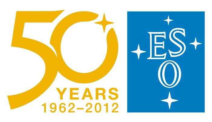 El logotipo del 50 aniversario de ESO