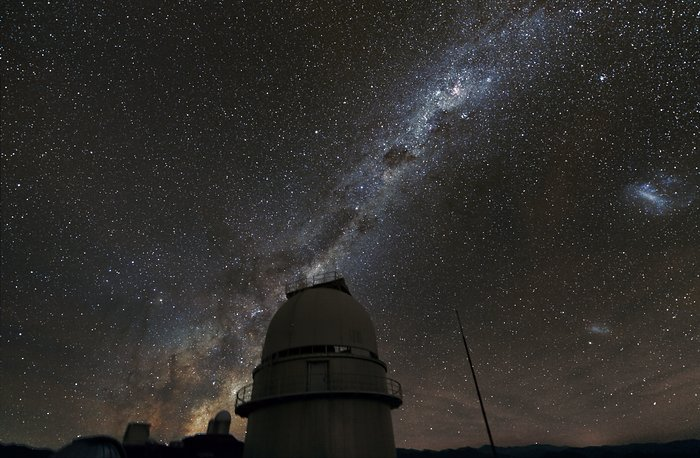 The Milky Way over the Danish 1.54-metre telescope at La Silla