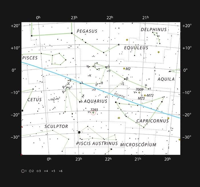 La Nebulosa de la Hélice en la constelación de Acuario