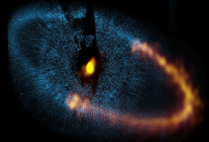 ALMA pozoruje prstenec kolem jasné hvězdy Fomalhaut
