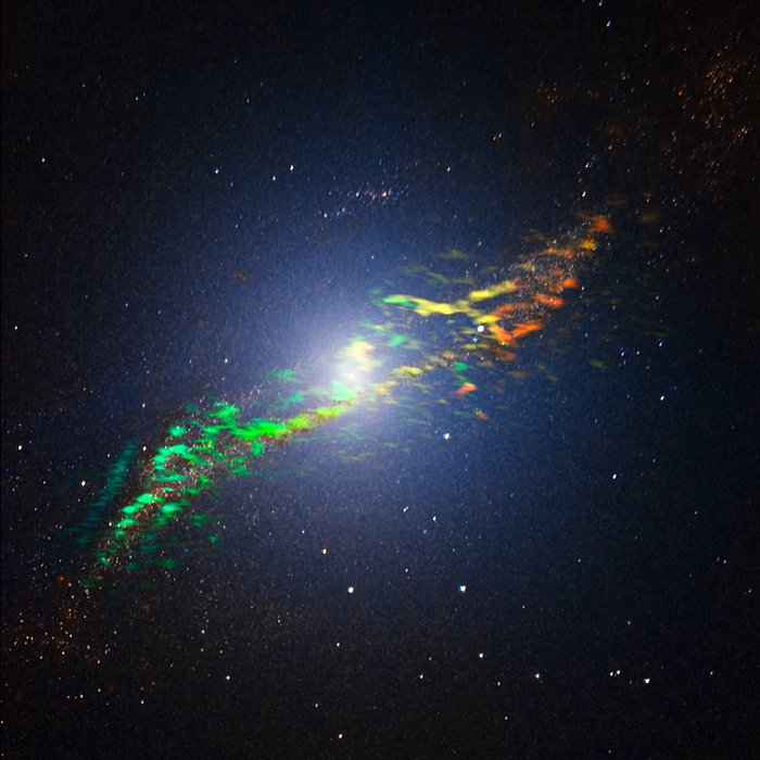 The radio galaxy Centaurus A, as seen by ALMA