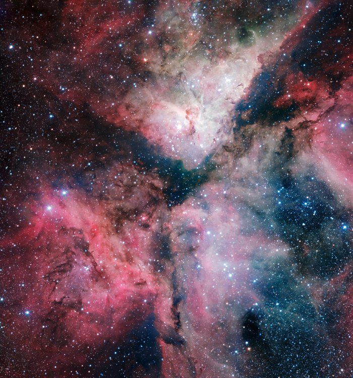 The Carina Nebula imaged by the VLT Survey Telescope