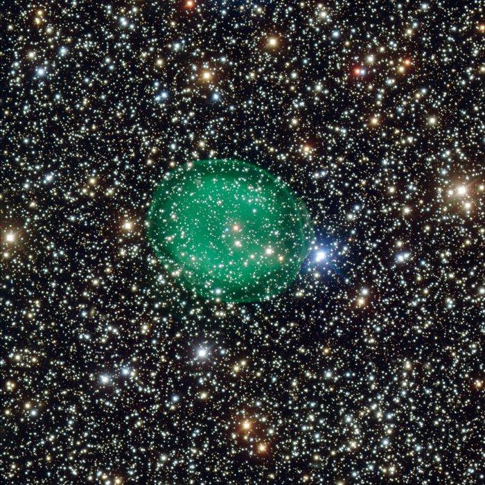Immagini della nebulosa planetaria IC 1295 ottenute con il VLT dell'ESO