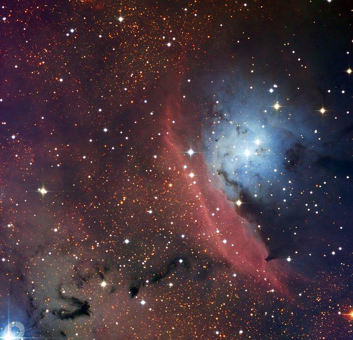 La région NGC 6559 de formation d'étoiles